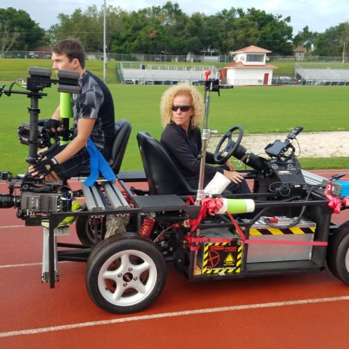 Klassen Steadicam Vehicle Mount on Electric Car